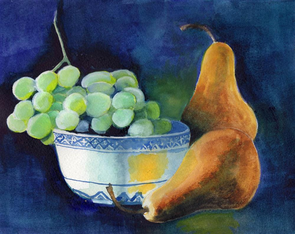 """""""Still Life with Fruit"""" original fine art by Bunny Griffeth"""
