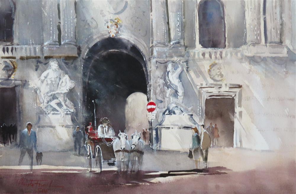 """Michaelertor Vienna "" original fine art by Christa Friedl"