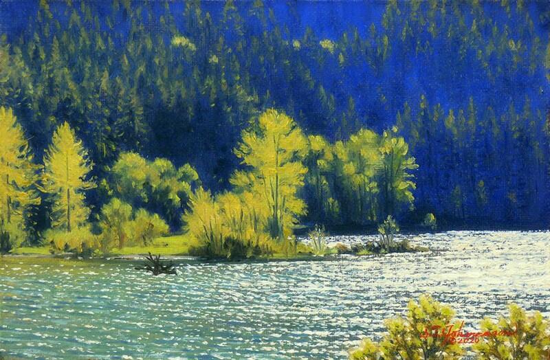 """""Springtime on the McKenzie"" (Oregon)"" original fine art by Steven Thor Johanneson"