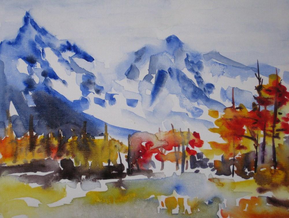 """""""Autumn Impression"""" original fine art by Julia Lu"""