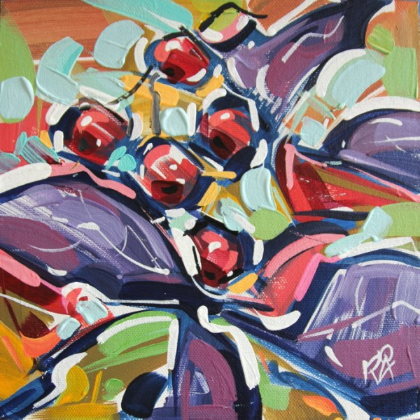 """""""Autumn Berry Abstraction 21"""" original fine art by Roger Akesson"""
