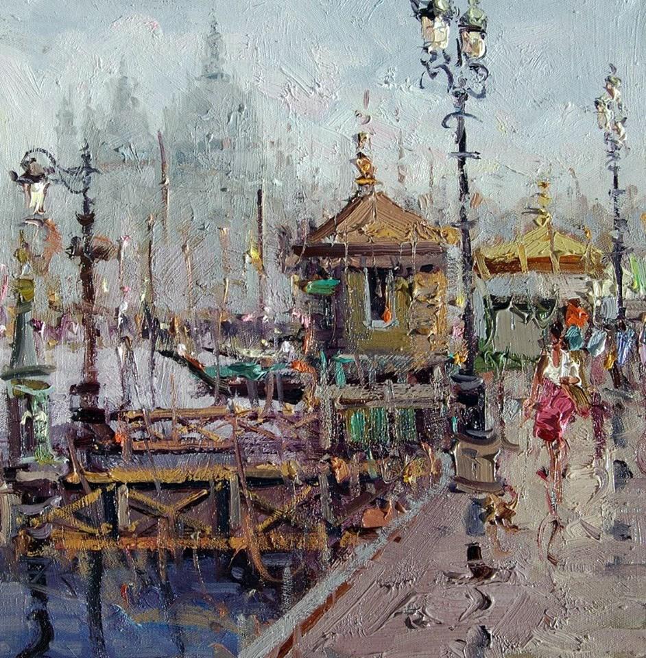 """""""Santa Maria della Salute(Venice)"""" original fine art by Mostafa Keyhani"""