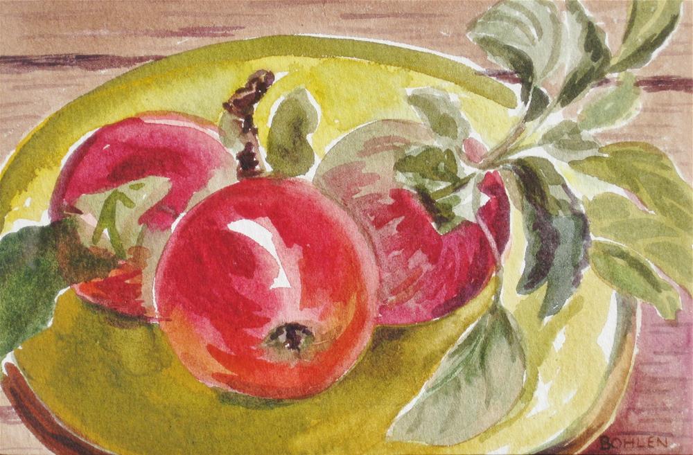 """Crab Apple"" original fine art by Priscilla Bohlen"