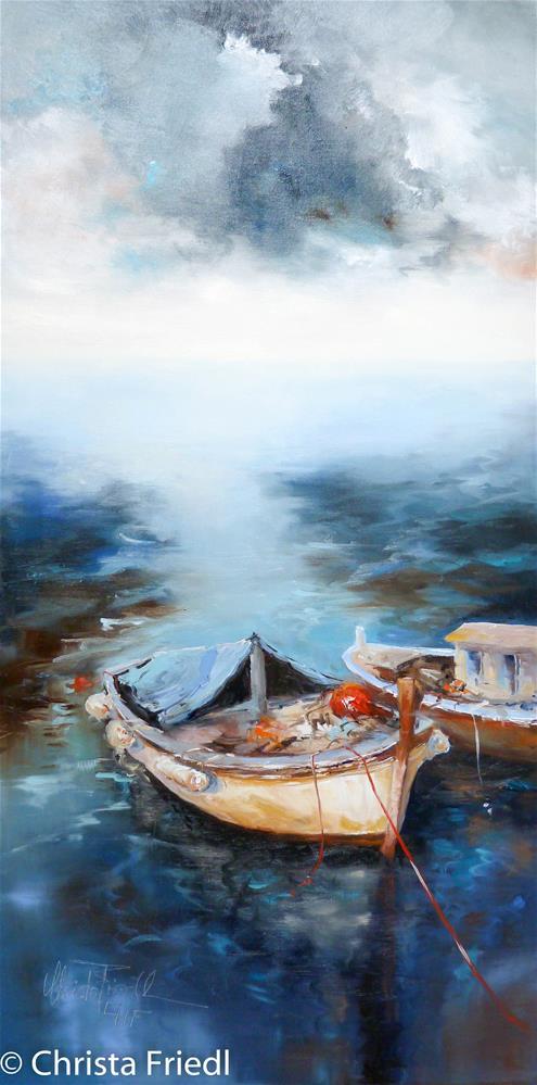 """Roped up"" original fine art by Christa Friedl"