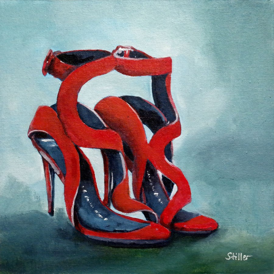 """2339 Redshoes"" original fine art by Dietmar Stiller"