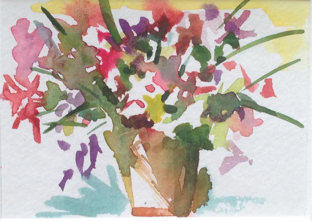 """Blooming"" original fine art by Beth Carrington Brown"