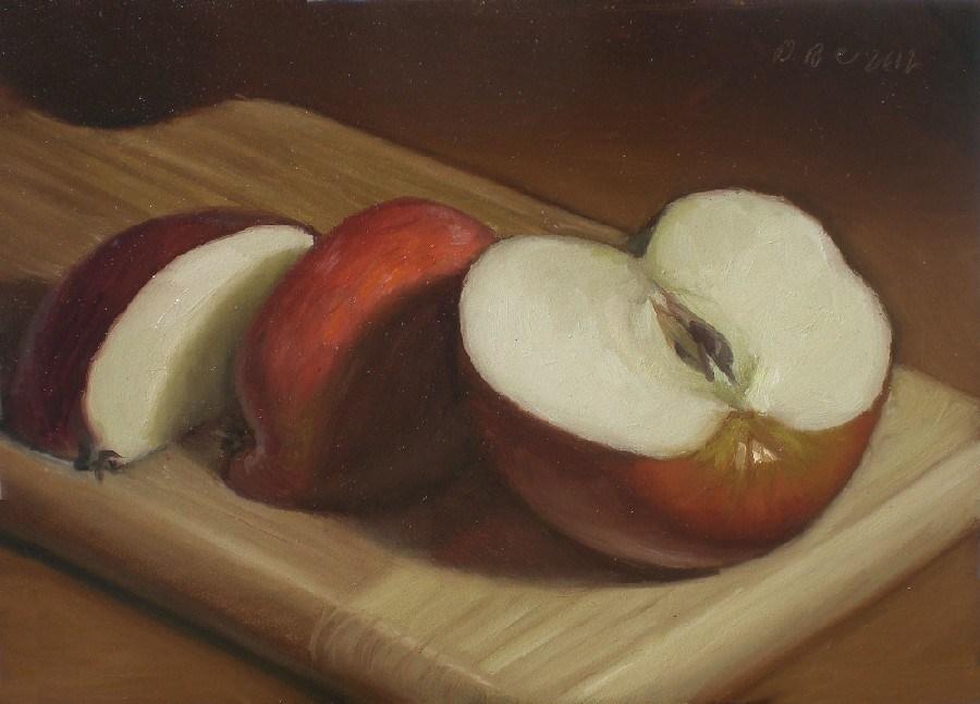 """""""An Apple a Day"""" original fine art by Debra Becks Cooper"""