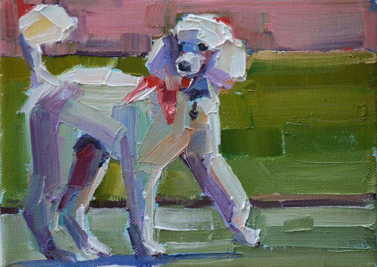 """parading pink"" original fine art by Carol Carmichael"