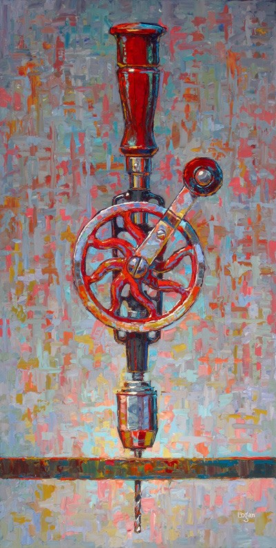 """My Sogard Hand Drill"" original fine art by Raymond Logan"