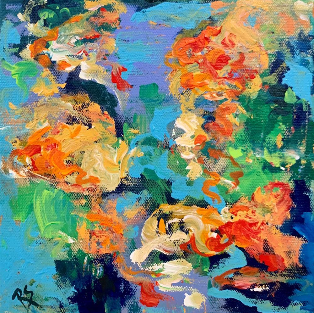 """The Gathering Place"" original fine art by Roberta Schmidt ArtcyLucy"