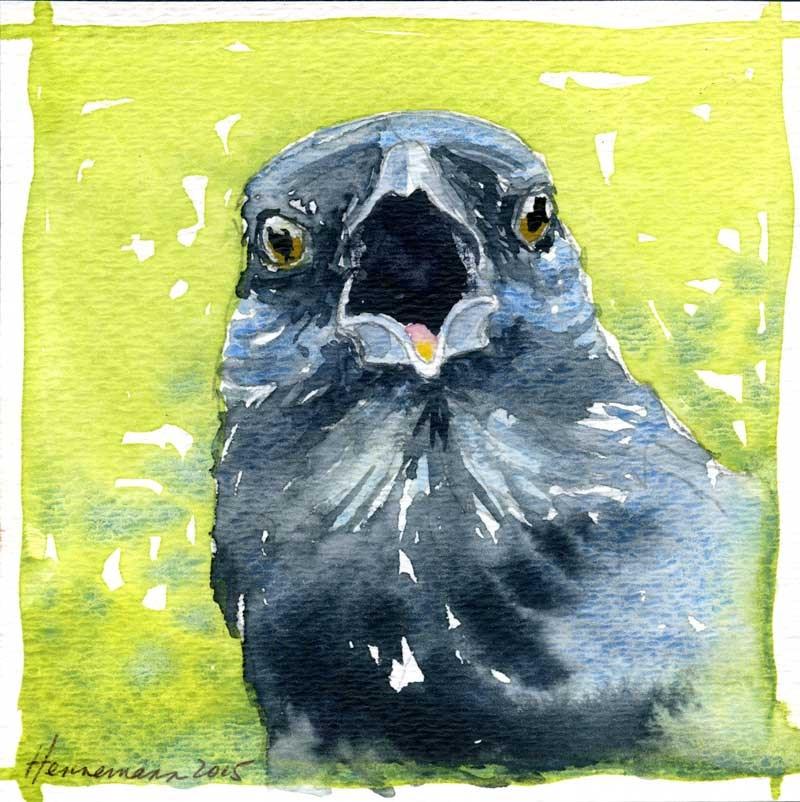 """""""Crow No. 1"""" original fine art by Eileen Hennemann"""