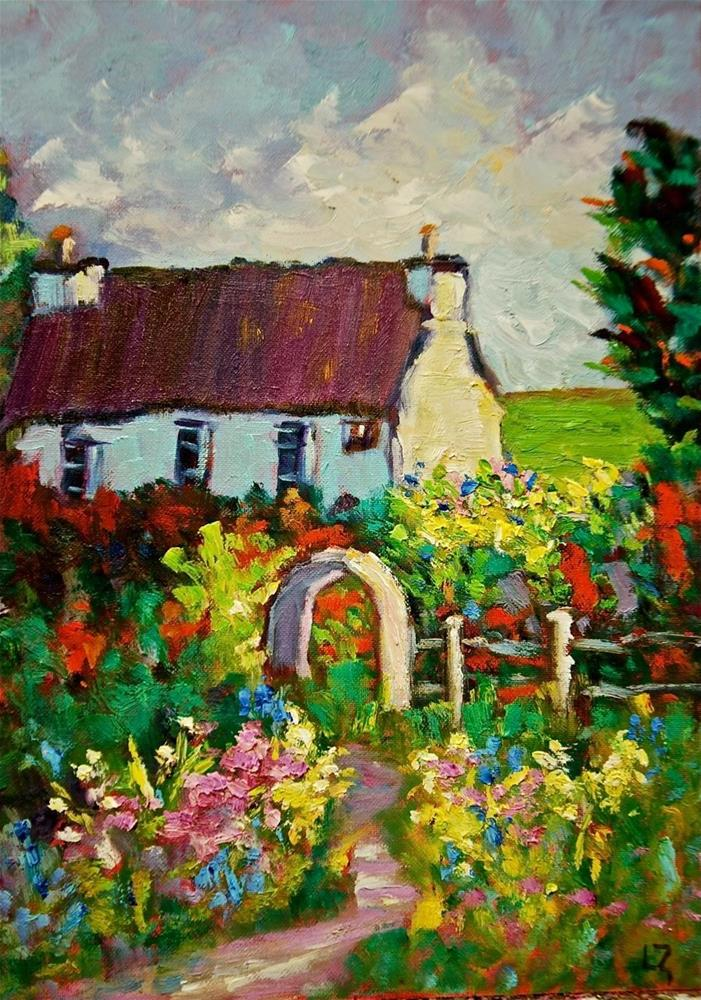"""Irish Cottage"" original fine art by Liz Zornes"