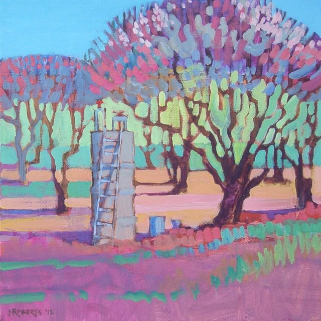 """Cherry Orchard"" original fine art by Nancy Roberts"
