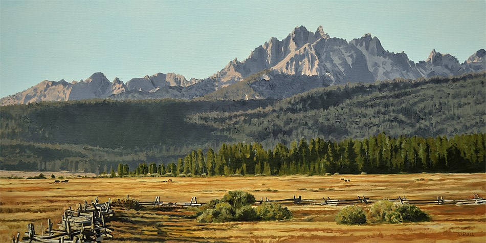 """""""Sawtooth Morning Shadows"""" original fine art by Andy Sewell"""