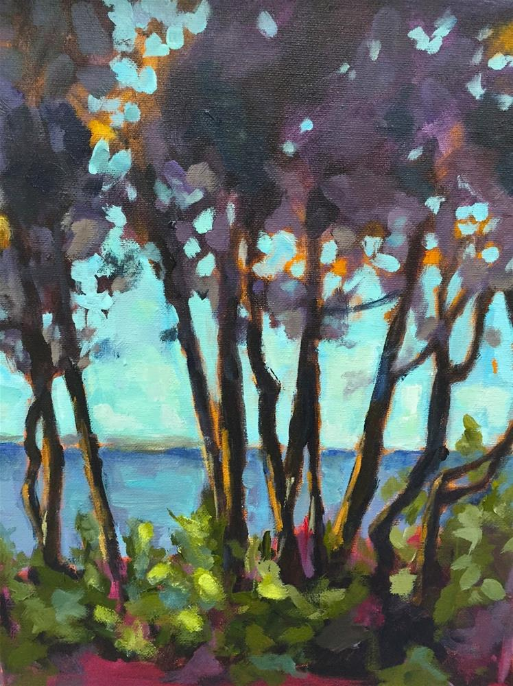 """""""801 View From Cottage Row"""" original fine art by Diane Campion"""