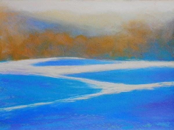"""""""Winter Trees"""" original fine art by Carolyn Caldwell"""