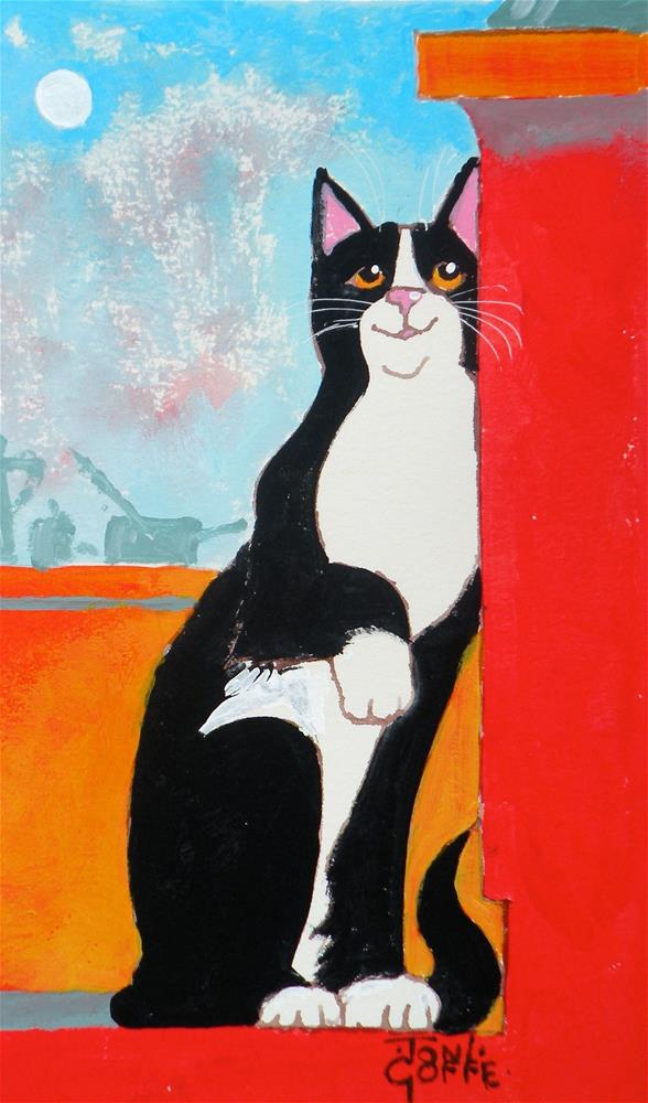 """""""Hurry Up!"""" original fine art by Toni Goffe"""