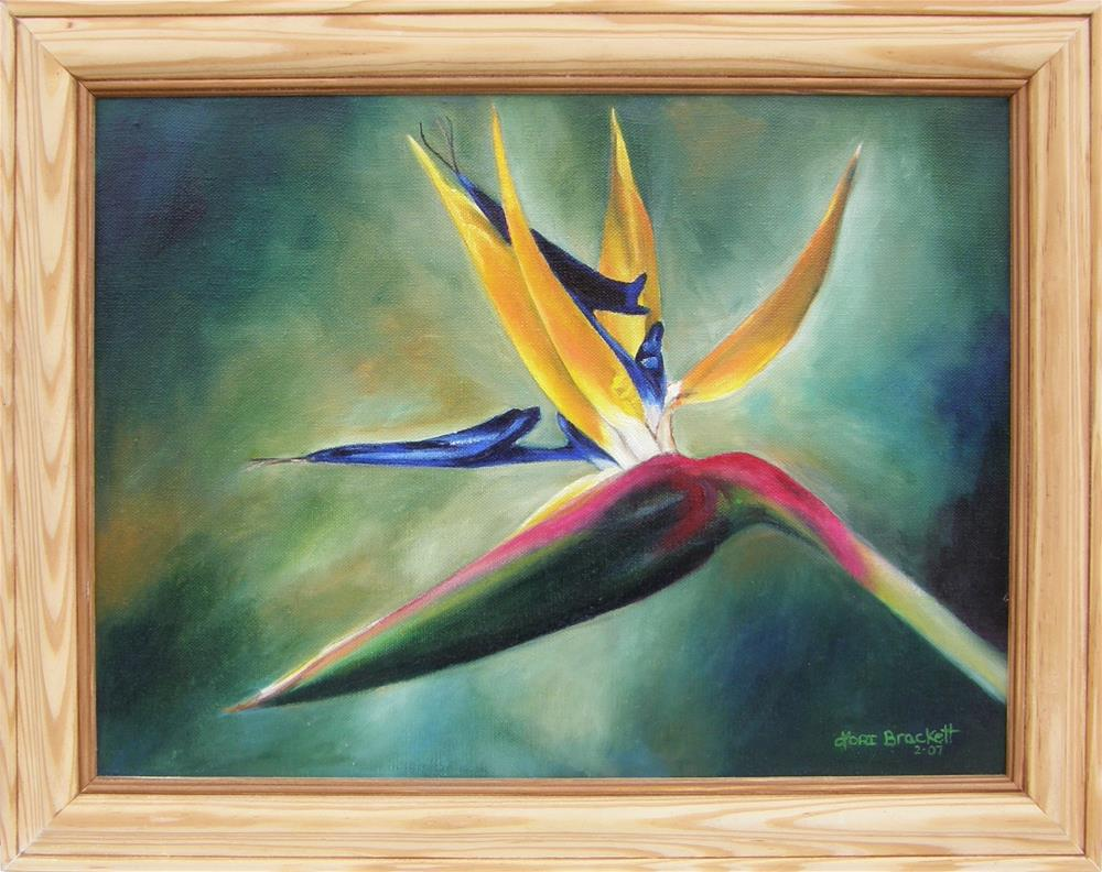 """DJ's Flower"" original fine art by Lori Brackett"