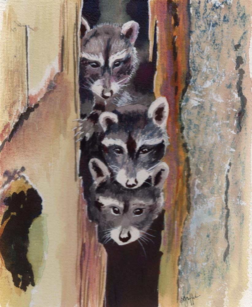 """Playing Peekaboo"" original fine art by Bunny Griffeth"
