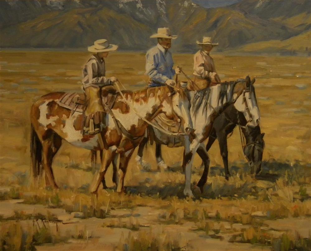 """A Fatherly Talk"" original fine art by Rick Kennington"