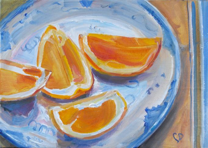 """""""Light Breakfast"""" original fine art by Carol DeMumbrum"""