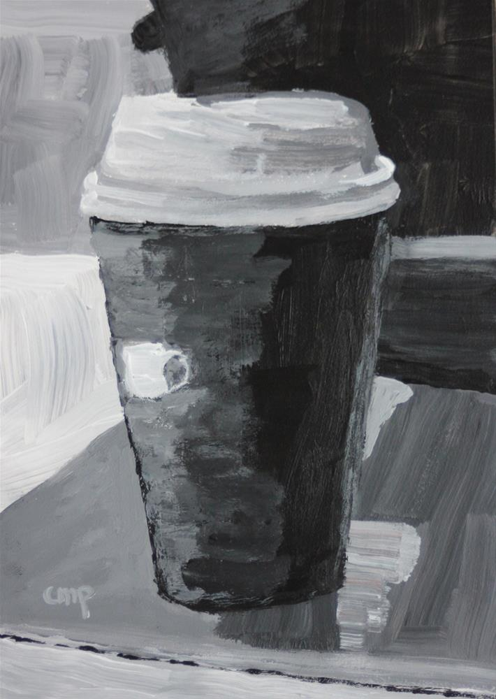 """Coffee to Go"" original fine art by Christine Parker"