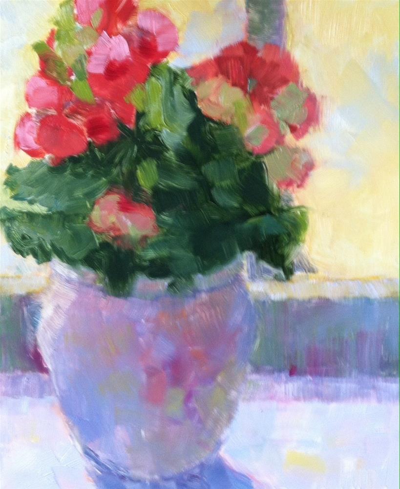 """Pink Begonia"" original fine art by Katharine March"