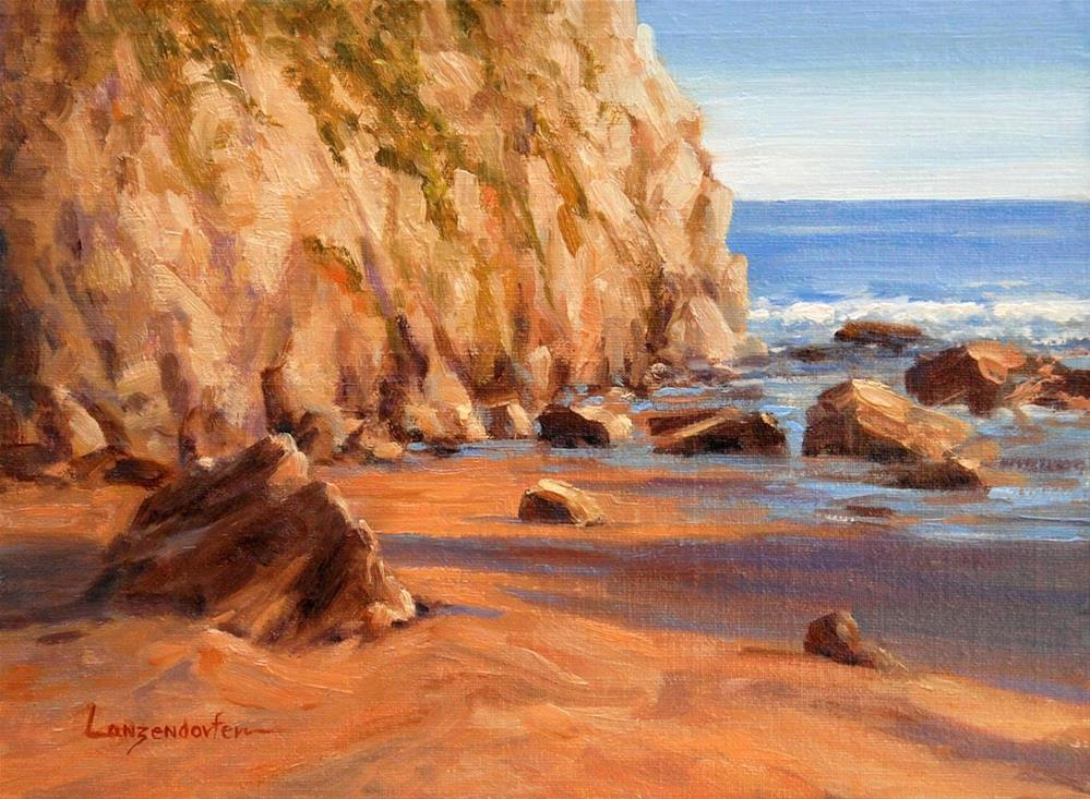 """HIDDEN COVE"" original fine art by Dj Lanzendorfer"