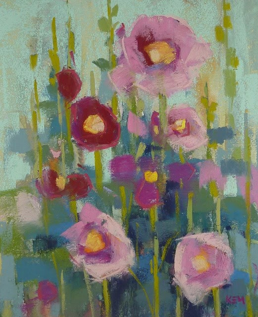 """Fast and Loose...Ideas for Painting Fresh Flowers"" original fine art by Karen Margulis"