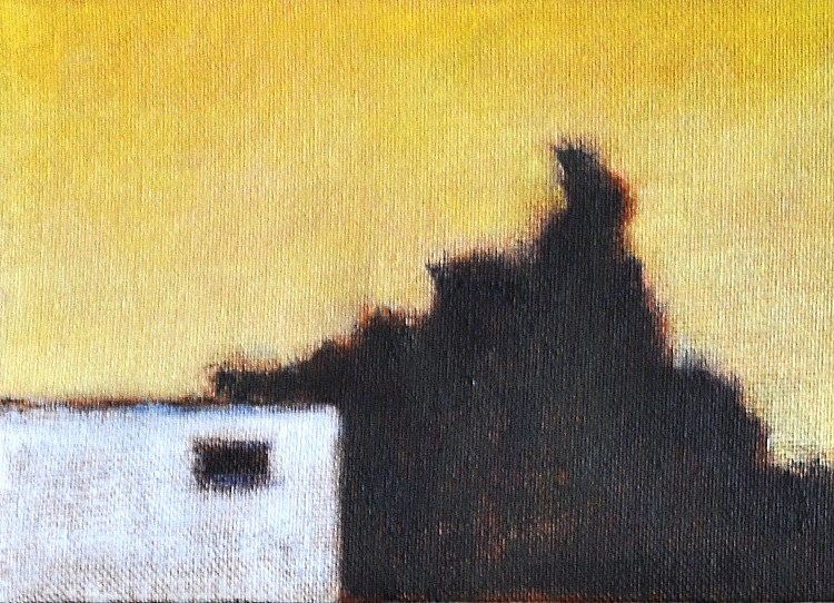 """""""May Sunset in North Park"""" original fine art by Kevin Inman"""