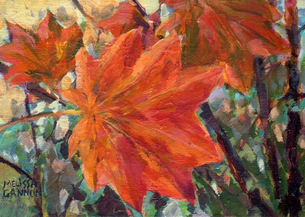 """Leafy Dance"" original fine art by Melissa Gannon"