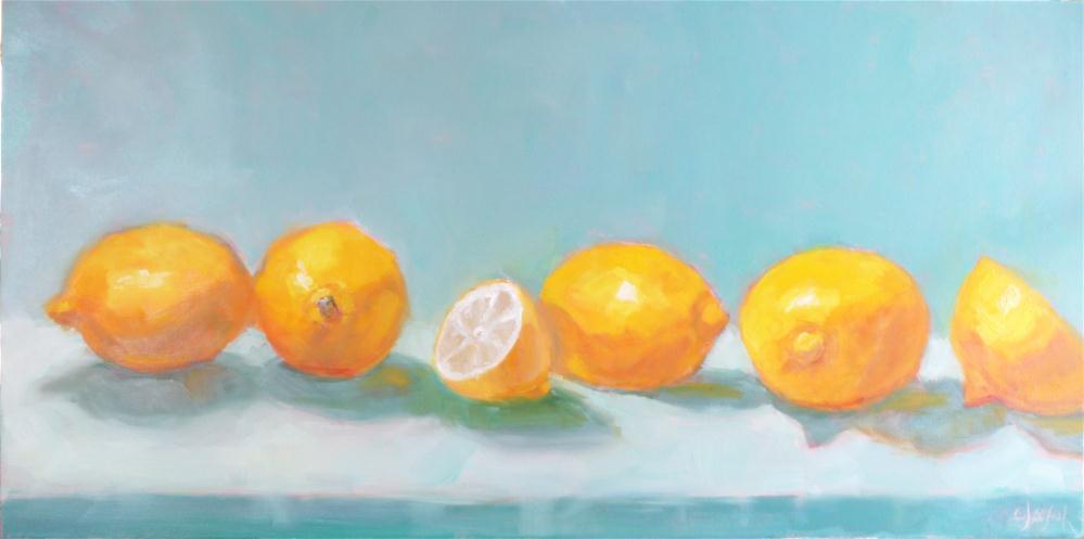 """Lemons on Parade"" original fine art by Carol Josefiak"