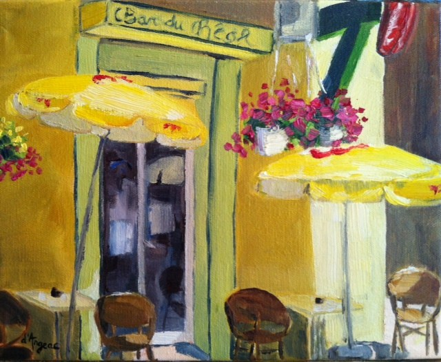 """Bar du Real"" original fine art by Karen D'angeac Mihm"