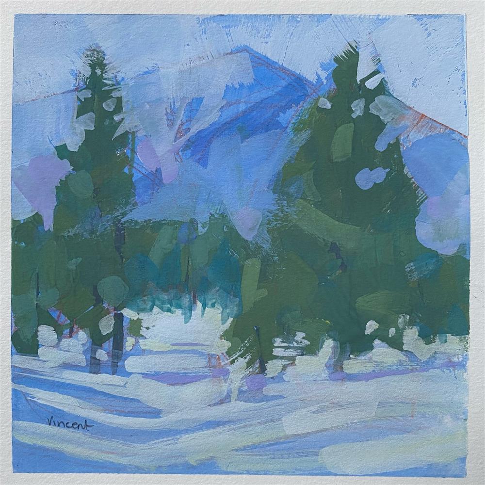 """Snowed"" original fine art by Patti Vincent"
