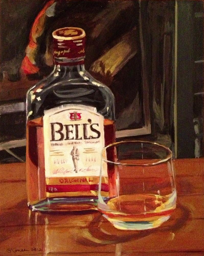 """""""A Shot of Bell's"""" original fine art by Paula Howson-Green"""
