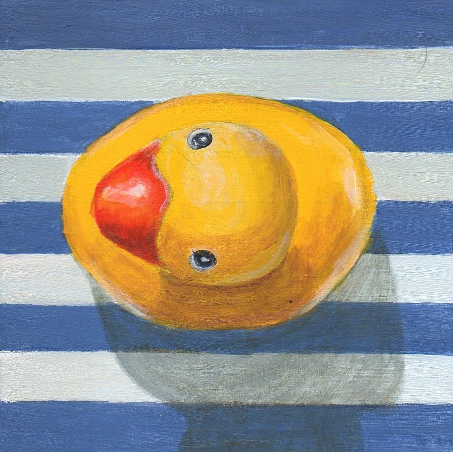 """Downstream"" original fine art by Debbie Shirley"