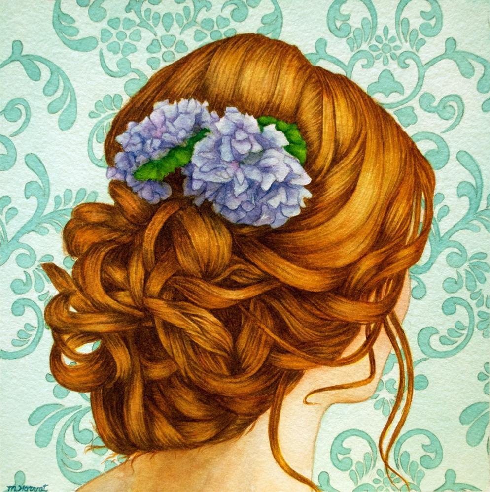 """""""Redhead"""" original fine art by Margaret Horvat"""