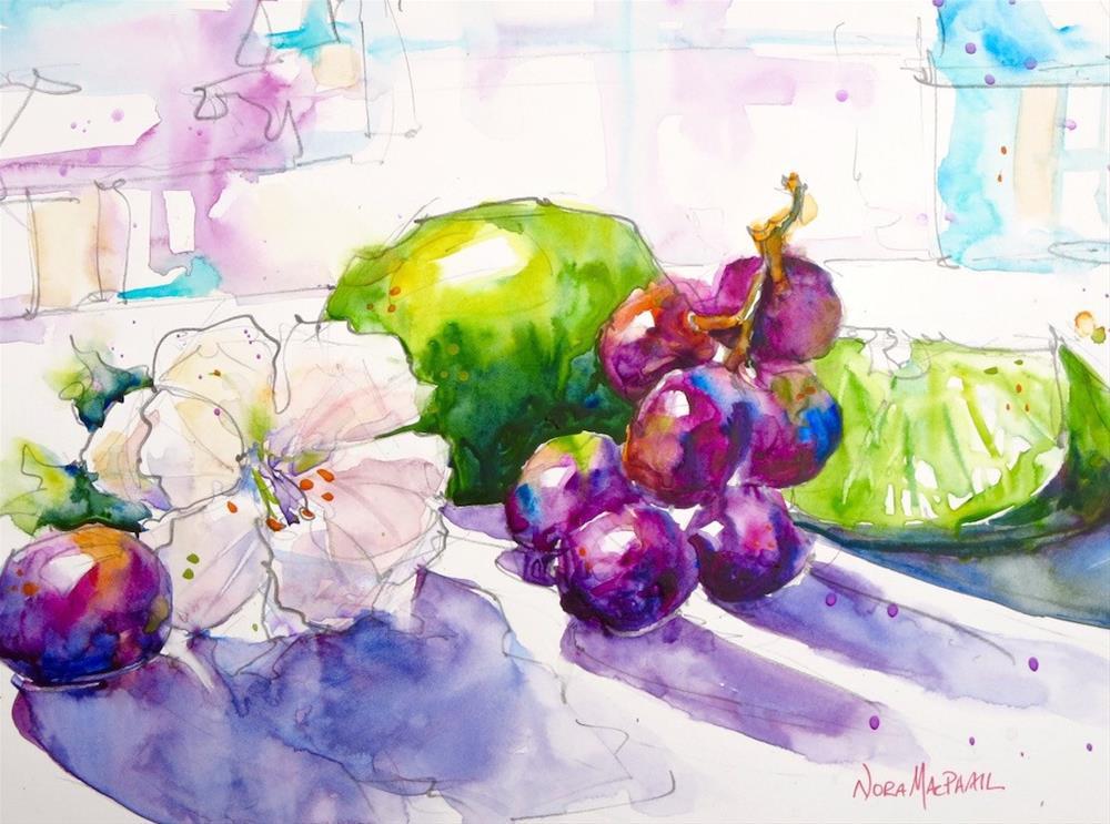 """take a deep breath"" original fine art by Nora MacPhail"