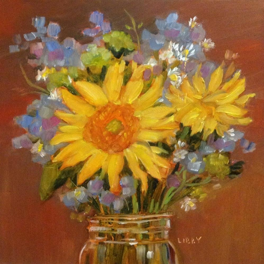 """""""Autumn Bouquet"""" original fine art by Libby Anderson"""