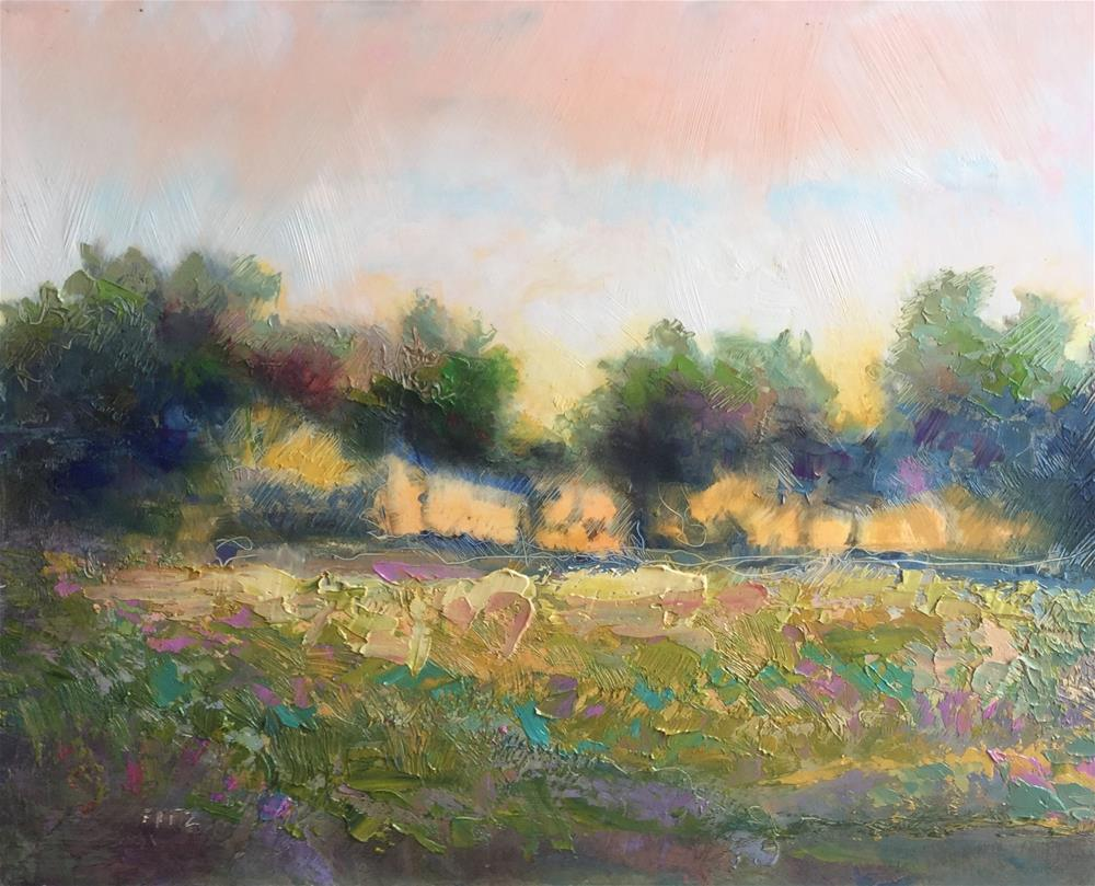 """""""Row of Trees"""" original fine art by Charlotte Fitzgerald"""