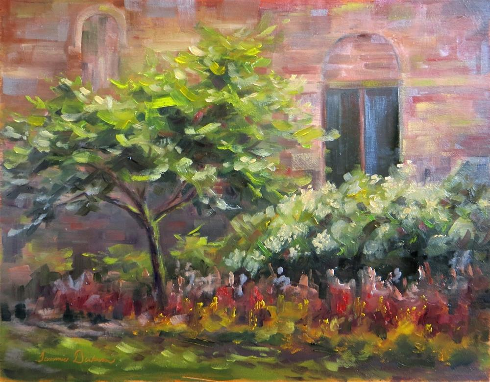 """In the Hydrangea Garden"" original fine art by Tammie Dickerson"