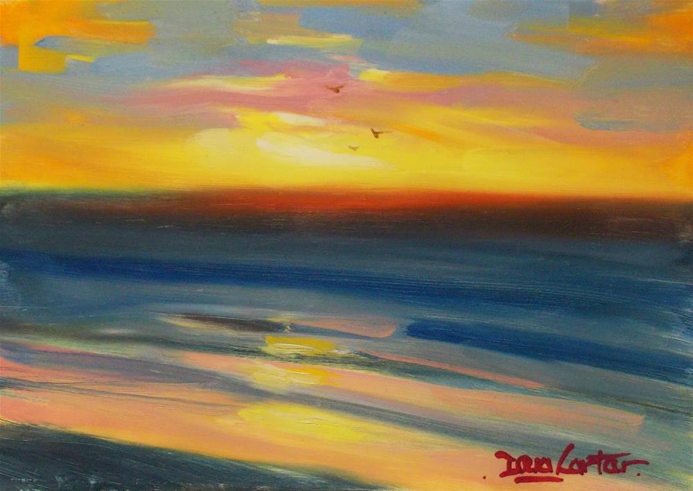 """SEA GLOW"" original fine art by Doug Carter"