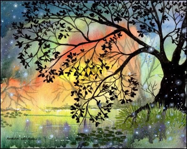 """""""Somewhere in the Secret Garden"""" original fine art by Patricia Ann Rizzo"""