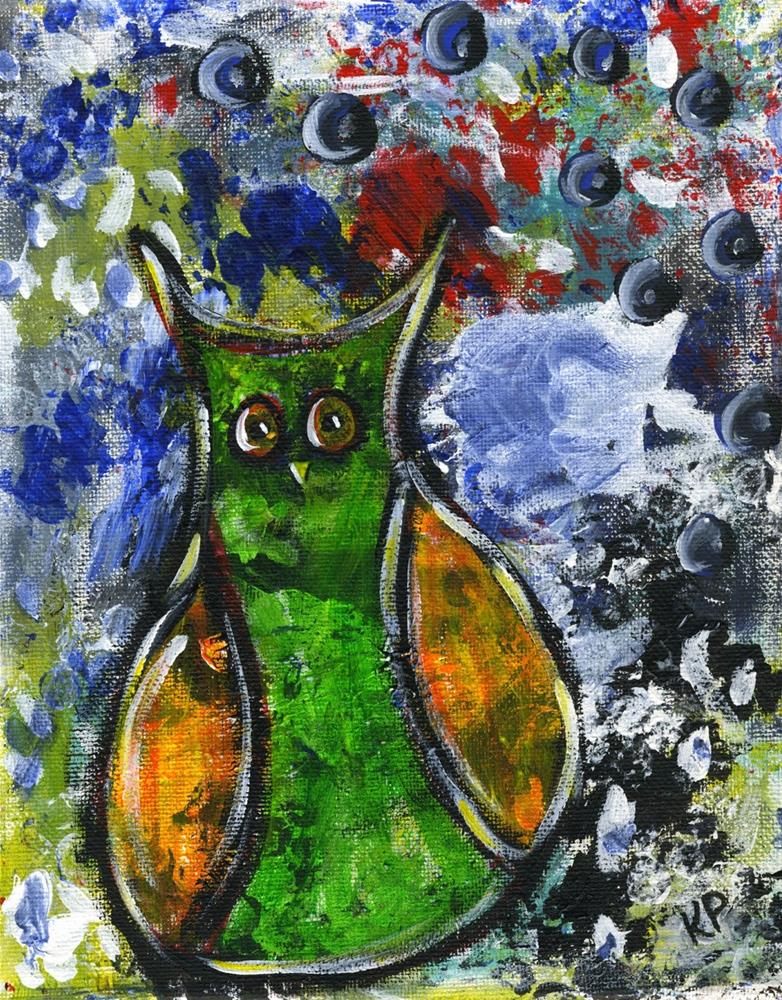 """""""It's Not Easy Being Green"""" original fine art by Kali Parsons"""