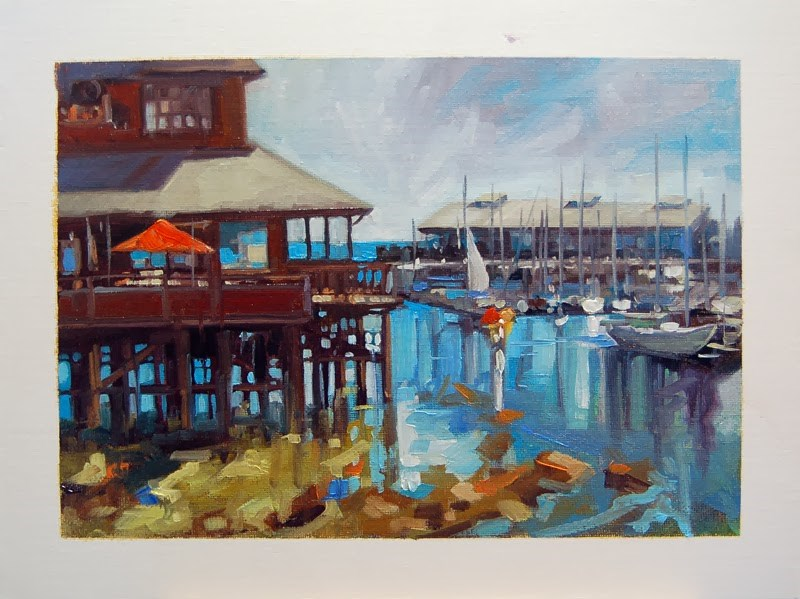 """No 635 The Marina"" original fine art by Robin J Mitchell"