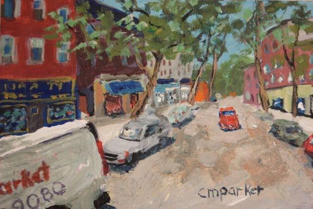 """Court Street, Brooklyn"" original fine art by Christine Parker"