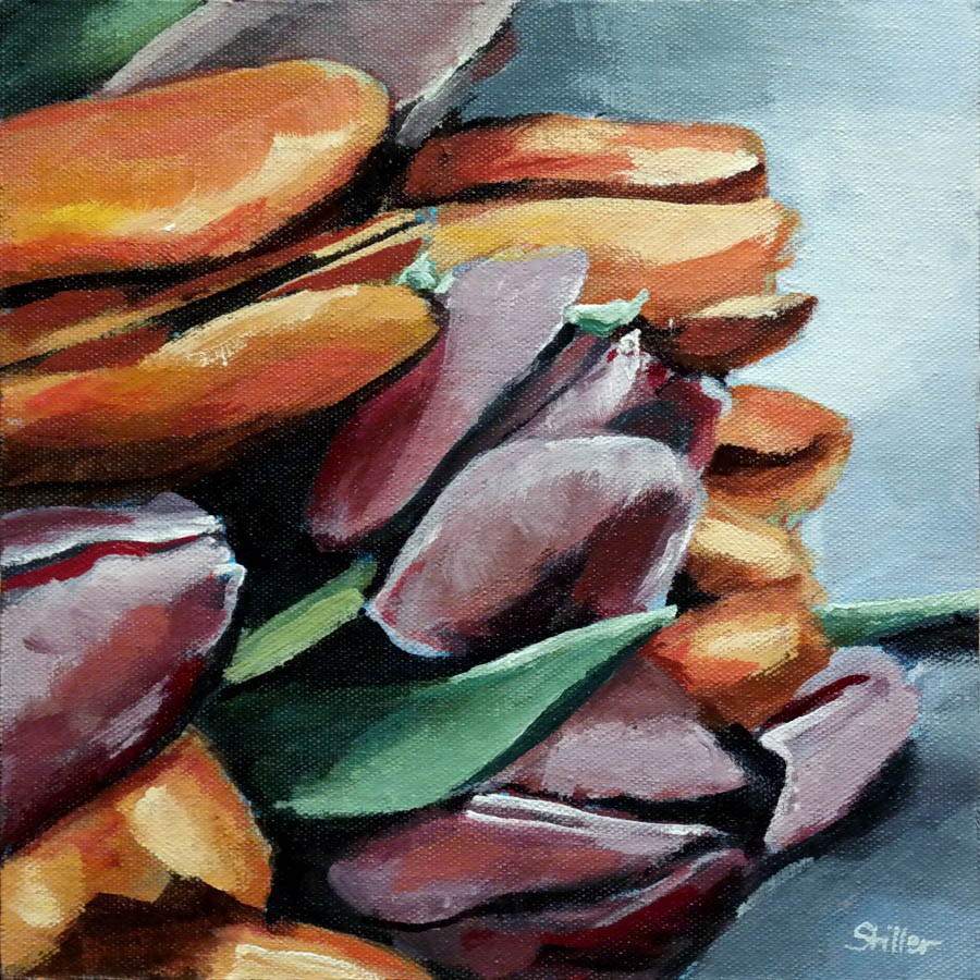 """2351 Colorful Tulpis"" original fine art by Dietmar Stiller"