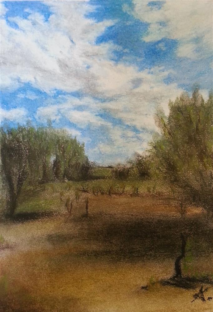 """Cloud Shadow 85"" original fine art by Konstantia Karletsa"