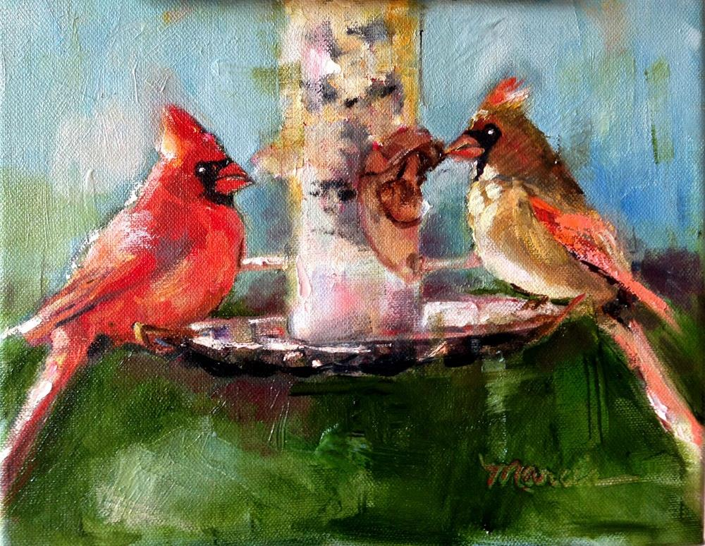 """""""A Table For Two"""" original fine art by Marcia Hodges"""