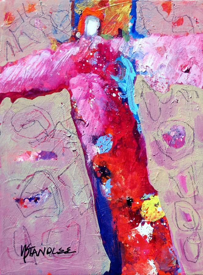 """Blessings 11108"" original fine art by Nancy Standlee"